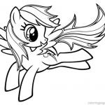 My Little Pony Coloring Pages Rainbow Dash Two