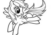 My Little Pony Coloring Pages Rainbow Dash Two  Coloring, Dash, Pages, Pony, Rai...