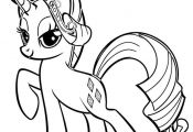 My Little Pony Coloring Pages Rarity Tiara