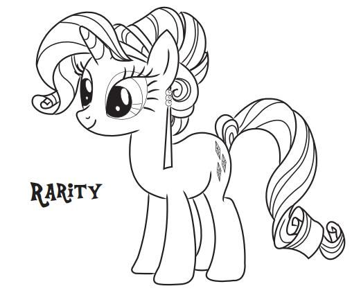 My-Little-Pony-Coloring-Pages-Rarity My Little Pony Coloring Pages - Rarity Cartoon