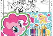 My Little Pony Colouring Set Childrens Activity Stickers Stocking Filler Gift