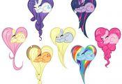 My Little Pony Corações by ponypixgigi on DeviantArt  Coraccedilotildees, Devi...