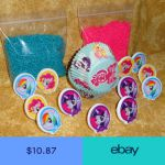 My Little Pony Cupcake Kit Rings Sprinkles Bake Cups DecoPac Craft Multi-Color
