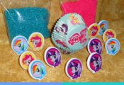 My Little Pony Cupcake Kit Rings Sprinkles Bake Cups DecoPac Craft Multi-Color