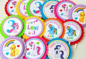 My Little Pony Cupcake toppers, My little pony Birthday party, Cupcake toppers i...