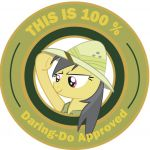 My Little Pony Friendship is Magic This is 100% Daring-Do Approved badge, origin...