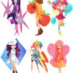 My Little Pony: Friendship is Magic characters as anime girls (and Spike)