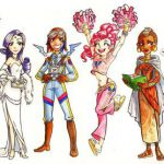 My Little Pony Girls 1 Color by gambitgurlisis.de... on deviantART
