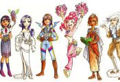 My Little Pony Girls 1 Color by gambitgurlisis.de... on deviantART