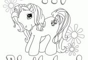My Little Pony Happy Birthday Coloring Template, Happy Birthday Coloring Pages, ...