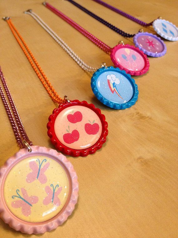 My-Little-Pony-MLP-Friendship-is-Magic-Deluxe-Necklace-Colored-Chain-SET-6 My Little Pony MLP Friendship is Magic Deluxe Necklace Colored Chain - SET (6) $... Cartoon