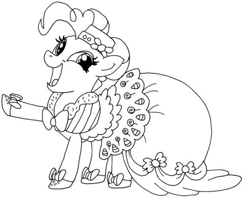 My-Little-Pony-Pinkie-Pie-Coloring-page My Little Pony Pinkie Pie Coloring page Cartoon