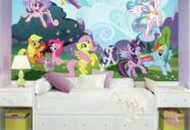 My Little Pony Ponyville XL Wallpaper Mural 10.5' x 6'