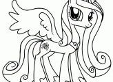 My Little Pony Princess Cadence Coloring Pages - GetColoringPages.com