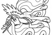 My Little Pony  Princess Celestia 02 Coloring Page