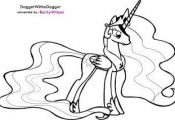 My Little Pony Princess Celestia Coloring Pages  Celestia, Coloring, Pages, Pony...