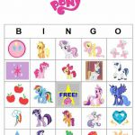 My Little Pony Printable Activities | Printable My Little Pony Bingo cards