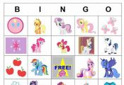 My Little Pony Printable Activities | Printable My Little Pony Bingo cards