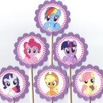 My Little Pony Purple and Pink Chevron Cupcake by TopperoftheWorld
