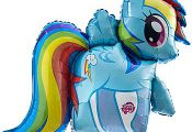 My Little Pony Rainbow Dash Shaped Blln Each