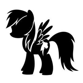 My-Little-Pony-Rainbow-Dash-Stencil-Free-Stencil-Gallery My Little Pony - Rainbow Dash Stencil | Free Stencil Gallery Cartoon