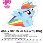 My Little Pony Rainbow Dash cut out iron-on tshirt transfer.