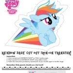 My Little Pony Rainbow Dash cut out iron-on tshirt transfer.  Cut, Dash, ironon,...