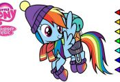 My Little Pony Rainbow Dash digital coloring book page video Rainbow Dash colori...