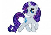 My Little Pony Rarity Embroidery Design  by Cloud9Embroidery, £2.50