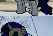 My Little Pony Rarity Stained Glass - Better Light by SenatorMars