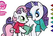 My Little Pony Rarity and Sweetie Belle digital coloring book page video Rarity ...