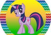 My Little Pony Strong Colors – Full Kit with frames for invitations, labels fo...