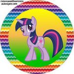 My Little Pony Strong Colors - Full Kit with frames for invitations, labels for ...