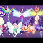 My Little Pony Transforms Equestria Girls Mane 7 into Daydream forms - MLP Color...