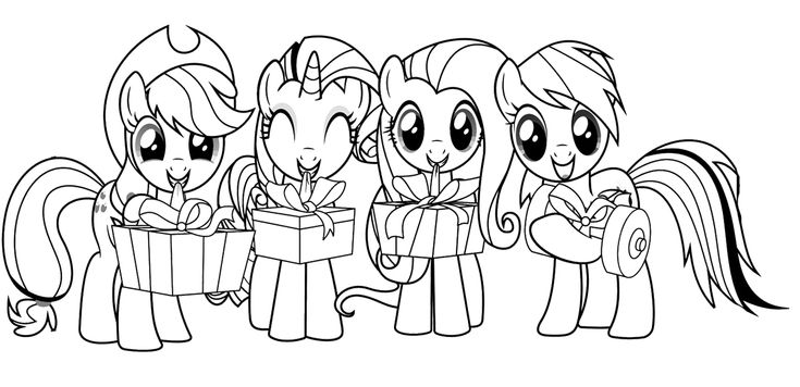 My-Little-Pony-With-Friends-Coloring-Page My Little Pony With Friends Coloring Page Cartoon