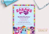 My Little Pony birthday invitation Magical birthday invite Rainbow Dash My Littl...