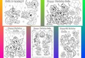 My Little Pony coloring pages Personalized Birthday Party