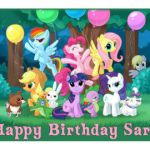 My Little Pony edible cake image cake topper  frosting sheet