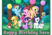 My Little Pony edible cake image cake topper  frosting sheet  cake, edible, fros...