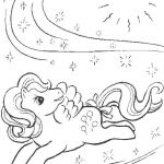 My Little Pony in a magic world coloring page