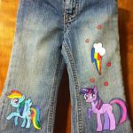 My Little Pony painted jeans