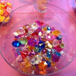 """My Little Pony party game: Rarity jewel search. We hid these """"jewels"""" outside li..."""