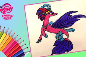My little Pony Movie Queen Novo MLP Coloring video for kids