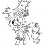 My little pony Funny Applejack Pony Halloween coloring page for kids, for girls ...