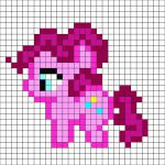 My little pony - Pinkie Pie pattern - by me For a free and better color, printab...