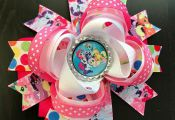 My little pony hair bow large my little pony rainbow color  bow, color, Hair, la...