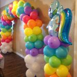 My little pony rainbow arch. Clouds on bottom with bright sunny colors to make y...