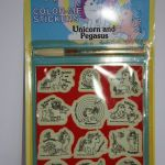 NWT My Little Pony Color-Me Stickers Unicorn and Pegasus MIP 1983