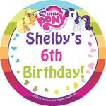 Our My Little Pony Personalized Stickers feature your favorite ponies with a rai...