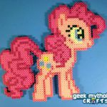 Pinkie Pie - My Little Pony Perler Bead Sprite Figure